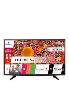 "LG 49UH610 49"" 4k TV £426.96 - but £50 credit back £426.96 @ VERY (with BNPL)"