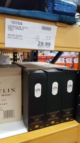 Lagavulin 16yr Malt Whiskey £35.98 @ Costco instore