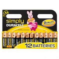 Simply duracell 12 AA or AAA batteries just £3 @ poundland