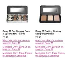 Barry M make up deal stacking: brow kit and contour kit £6.49 each or £7.73 for both at Superdrug + FREE delivery