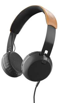 Skullcandy Grind On-Ear Headphone with Tap Tech - Black/Tan £12.97 (Prime) @ Amazon