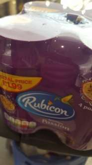Rubicon mango / passion fruit cans (pack of 4x 330ml cans) - £1 at Pound world