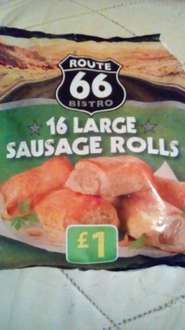 Route 66 (16 Large Sausage Rolls) for £1 @ Farmfoods