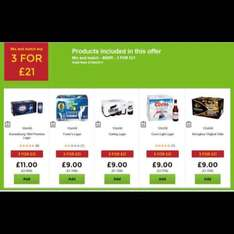 beer  @ Asda mix and match 3 for £21