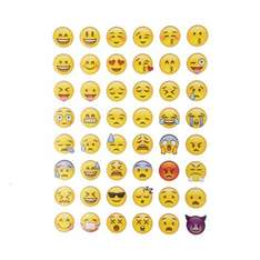 48 Classic Emoji Smile Face Stickers just 6p delivered @ Ali Express / Kisswawa