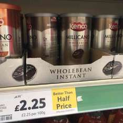 Tesco instore kenco millicano better than half price - £2.25 instore