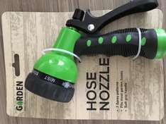 Garden 7 spray pattern hose nozzle £0.99 at Home Bargains