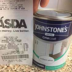 johnstone's One Coat Quick Dry Satin Paint just £4 instore @ Asda
