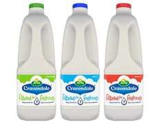 FREE Cravendale milk 2L - any variety - Buy 1, get £1.80 cashback (Quidco) @ ClickSnap
