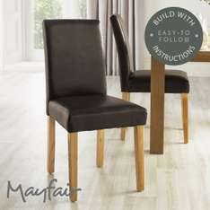 Mayfair Dining Chairs: Set of 2 RRP £129.99 Now £59.99 @ Home Bargains