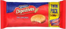 McVitie's Digestive Biscuits (2 per pack - 1Kg) was £2.20 now £1.50 @ Sainsbury's