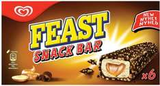Feast Snack Bar Ice Cream (6 x 60ml) was £3.00 now £2.00 @ Iceland