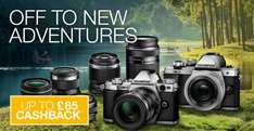 Olympus up to £85 cashback Bodies/Lenses