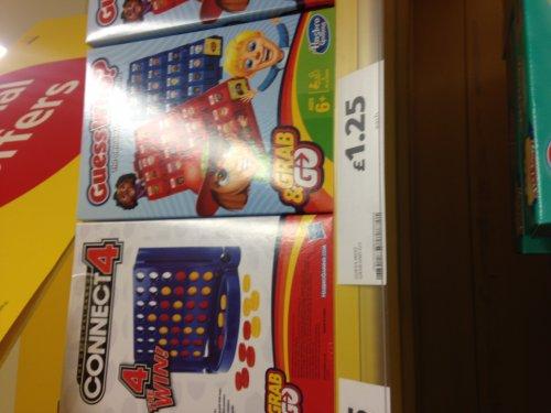 HASBRO Grab and Go games £1.25 instore @ Tesco
