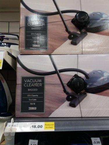 Vacuum Cleaner £18 instore @ Tesco