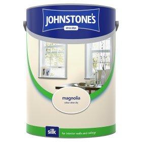 Johnstones 5 litre Magnolia Silk Emulsion Paint £7 at Asda