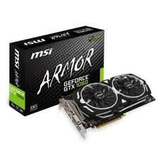 MSI NVIDIA GeForce GTX 1060 6GB ARMOR OC £205.98 (£192.98 after £13 cashback) at Scan