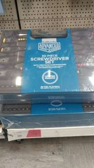 Halfords advanced 30 piece screwdriver set half price £19.99 instore