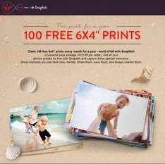 100 free prints every month for a year @ Snapfish for Virgin Media customers (£2.99 postage)