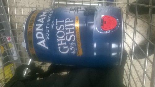Adnams Ghost Ship pale ale 5l keg £10 in tesco colchester