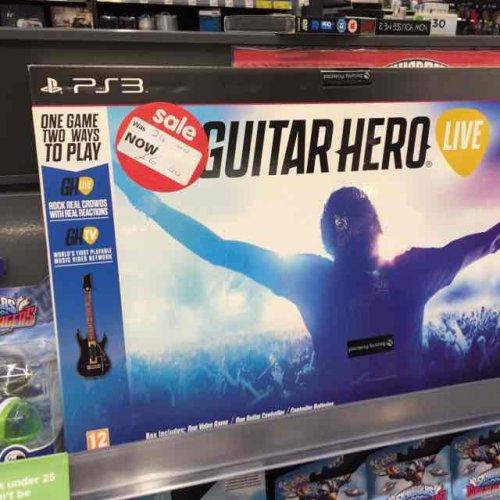 Guitar hero live ps3 and Xbox 360 £6 @ asda