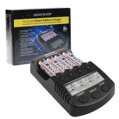7dayshop AA and AAA Intelligent NiMH Professional DS-SC1000 FAST Battery Charger Multi Mode LCD Display - £12.89