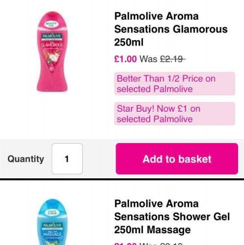 Palmolive Aroma Sensations  250ml £1 at Superdrug