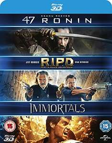 47 Ronin / RIPD / Immortals 3D [Blu-ray] [2011] [Region Free] £4.83 prime / £6.82 non prime @ Amazon