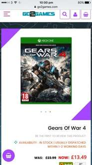 Gears Of War 4: Xbox One £13.49 @ Go2Games