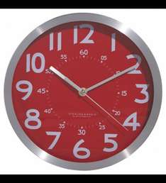 George Home Red Metallic Clock for £3.18