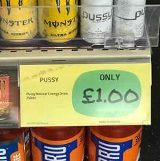 available in BP, I was told this is national!! I think we all agree that it normally costs a lot more than £1 (Pussy Drink) I can't believe how many people on here do not have a sense of humour...:-)
