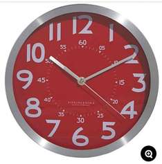 Back in Stock George Home 25cm Red Metallic Clock at Asda Direct was £12 now £3.18