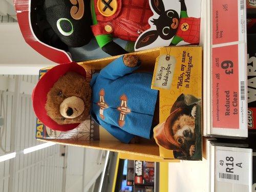 Paddington Bear - talks! £18 reduced to £9 @ Sainsburys