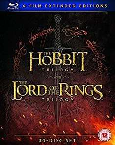 Middle Earth Six Film Collection Extended Edition (Blu-Ray) £59.91 @ Amazon (Sold by Alienstore and Fulfilled by Amazon.)