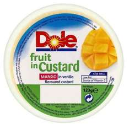 Fruit in Custard - DOLE MANGO IN CUSTARD 123G 5p @ Poundstretcher