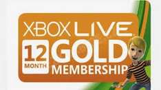 XBOX LIVE GOLD 12 MONTH MEMBERSHIP £26.66 @ Xbox