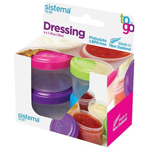 Sistema Dressing Pots (4-Pack) £1.59 at John Lewis - £2 c&c