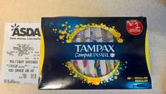 tampax compak pearl 36 rtc £1.33 & 3 for 2 instore Asda Thanet