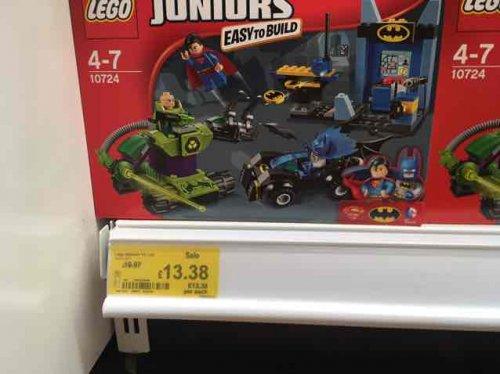 Lego 10724 juniors batman vs lex £13.38 Asda