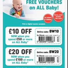 All Baby Products £10 Off when spend £50 & £20 Off when spend £100 in store & online @ Smyths