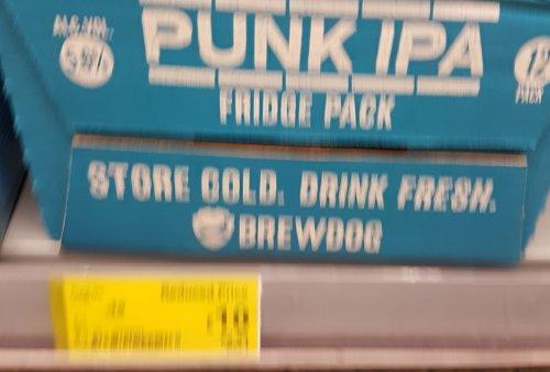 Punk IPA 12 tin pack for £10 instore at Asda