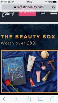 Latest in Beauty limited edition beauty and the beast beauty products box now £18.95 delivered