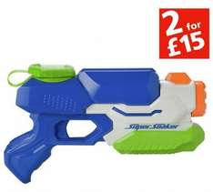 Nerf Super Soaker Freezefire Water Blaster 2 for £15 Or £10.99 each at Argos