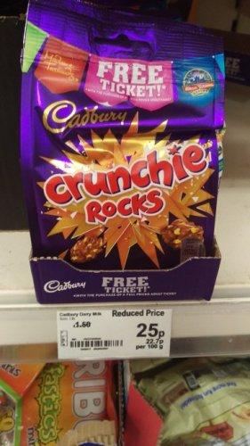 Cadburys Crunchy Rocks 110g bags 25p at ASDA Whitley Coventry