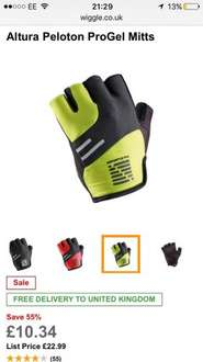 Altura Peloton ProGel Mitts Two different colours free delivery at Wiggle for £10.34