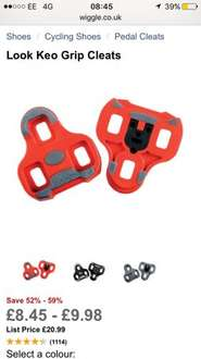 Look Keo Grip Cleats £8.45 free delivery @ Wiggle