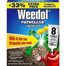 Weedol Pathclear Weedkiller Liquid Concentrate 8 tubes Amazon (Prime price £7.48) Non prime £11.47