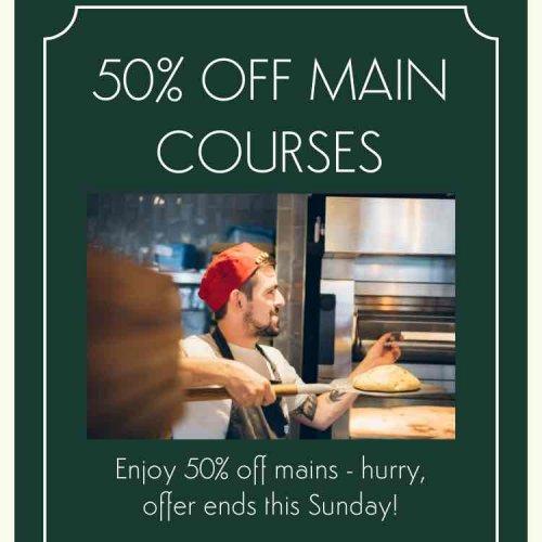 50% off main courses at Ask Italian