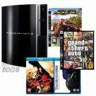 PS3 80GB Console + 300 Blu-Ray + Transformers Blu-Ray + Motorstorm: Pacific Rift + GTA IV - £329.99 @ Game