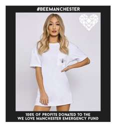#BEEMANCHESTER CHARITY T-SHIRT DRESS - £10 @ INTHESTYLE